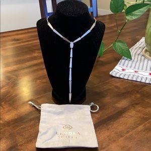 NWOT Kendra Scott Matte Silver Necklace